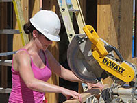 Credit One Bank Employees helping Habitat for Humanity'