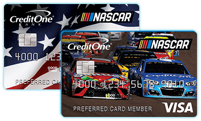 Credit one bank official site official nascar visa reheart Images