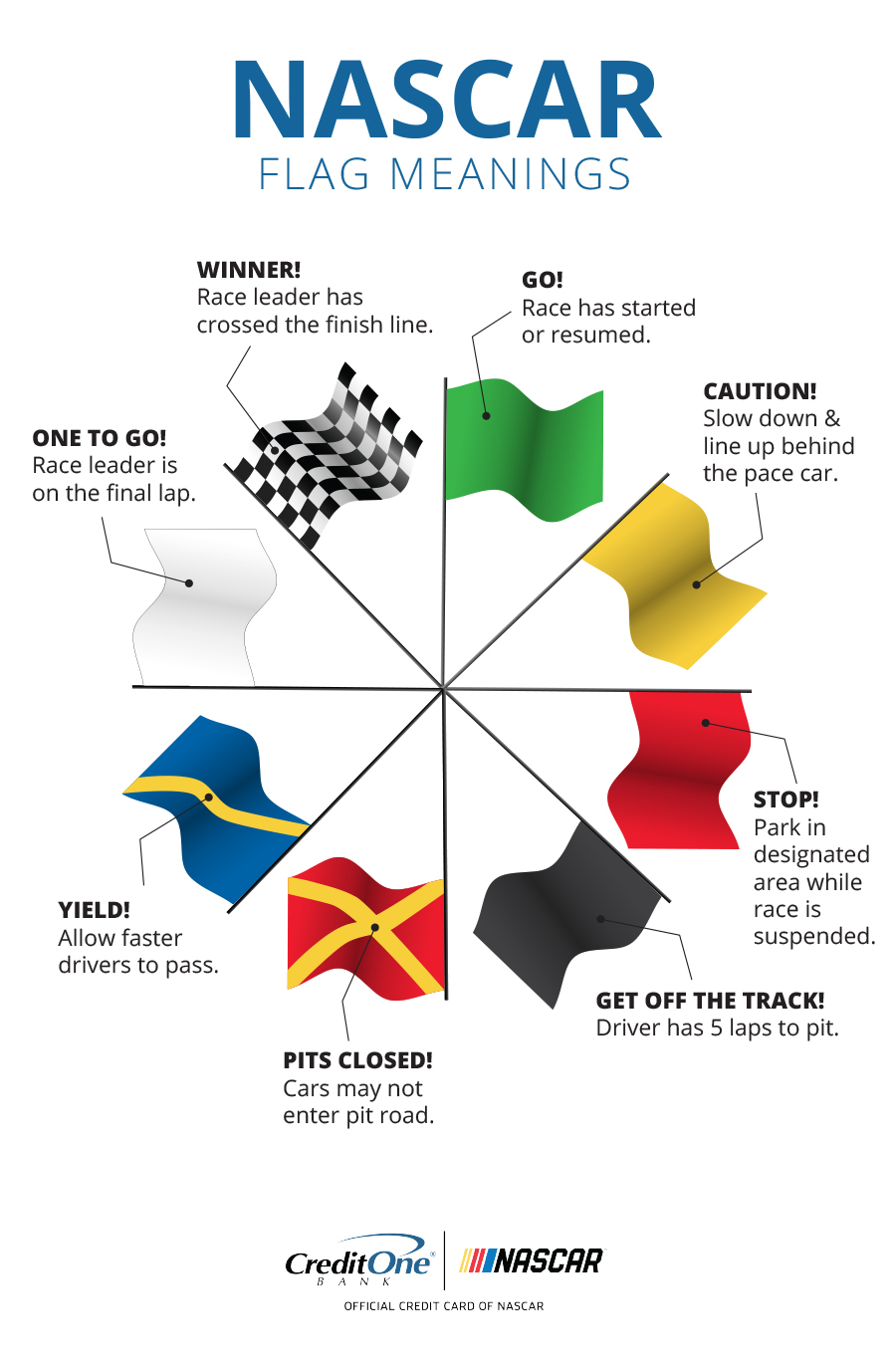 All in a Wave: The Meanings of 8 NASCAR Flags [Infographic]