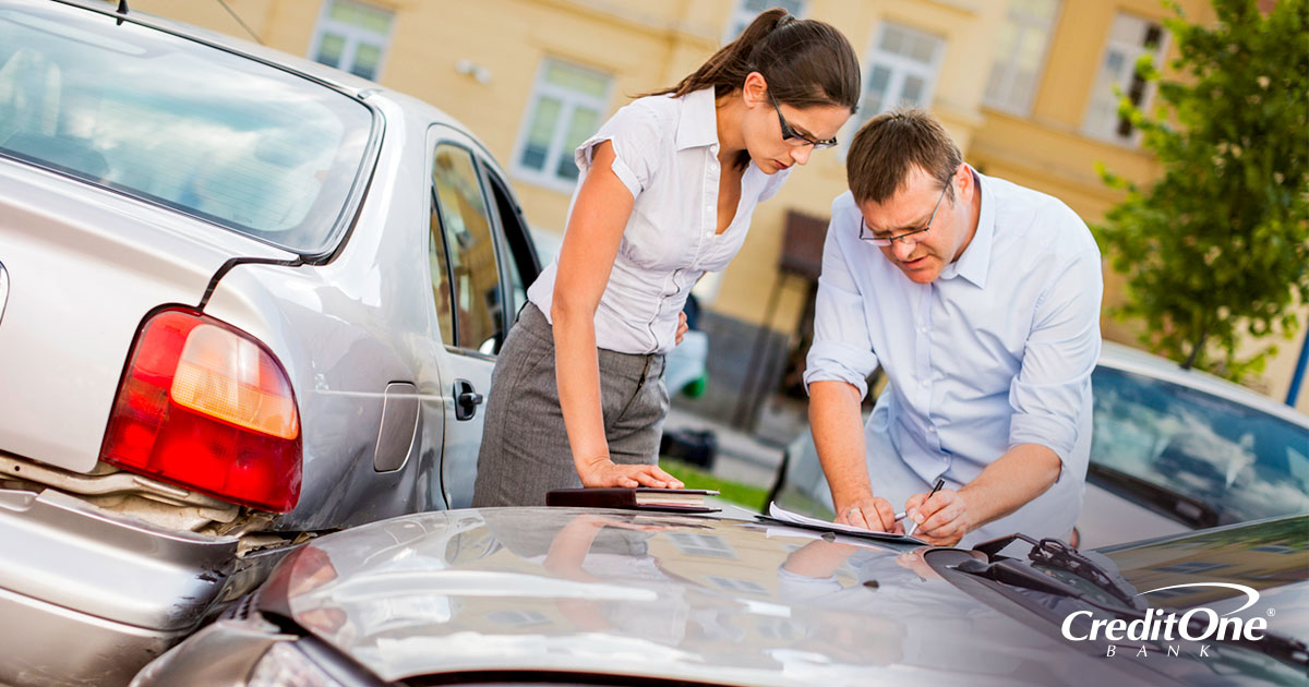 Assessing the damage done after a car accident