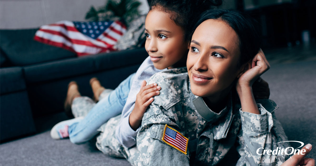 Military veteran and her daughter benefitting from service member financial assistance