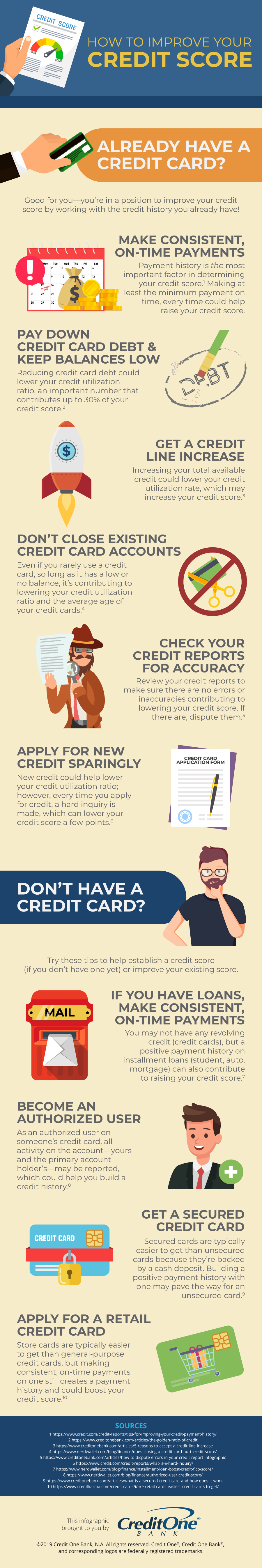 How to Improve Credit Score Infographic