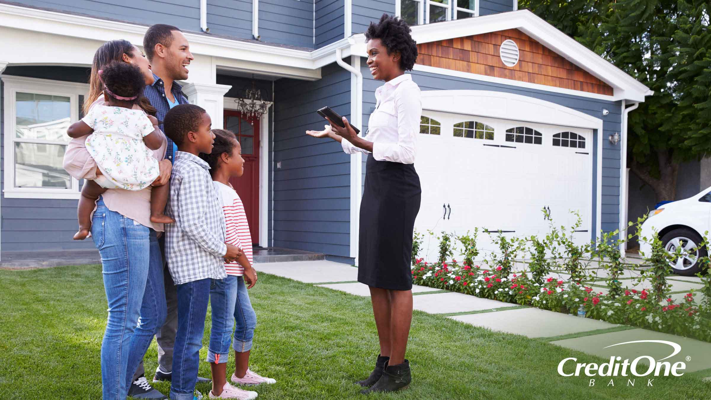 A good credit score puts a family in a good position to purchase a new home