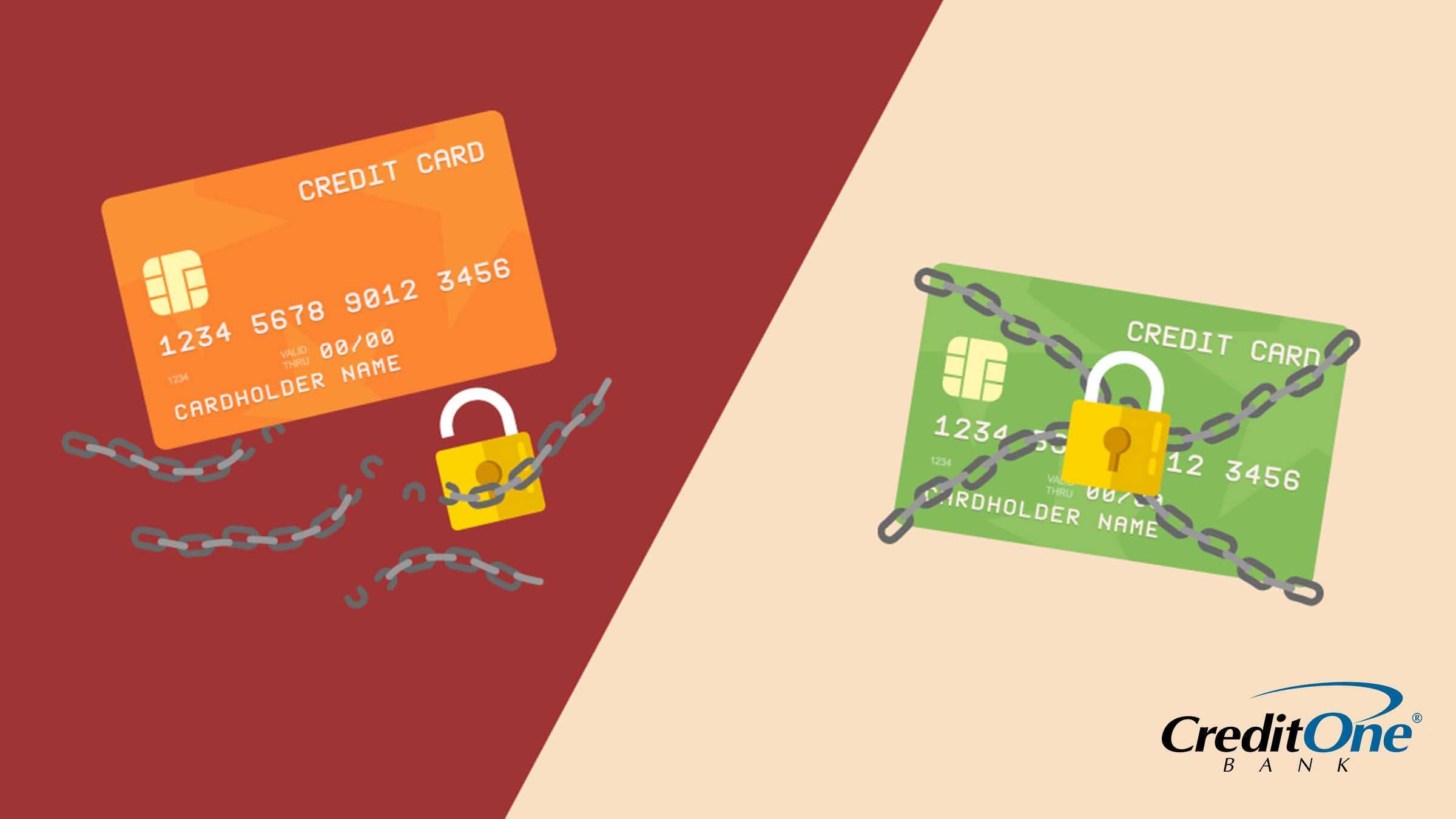 Infographic of unsecured vs secured credit cards
