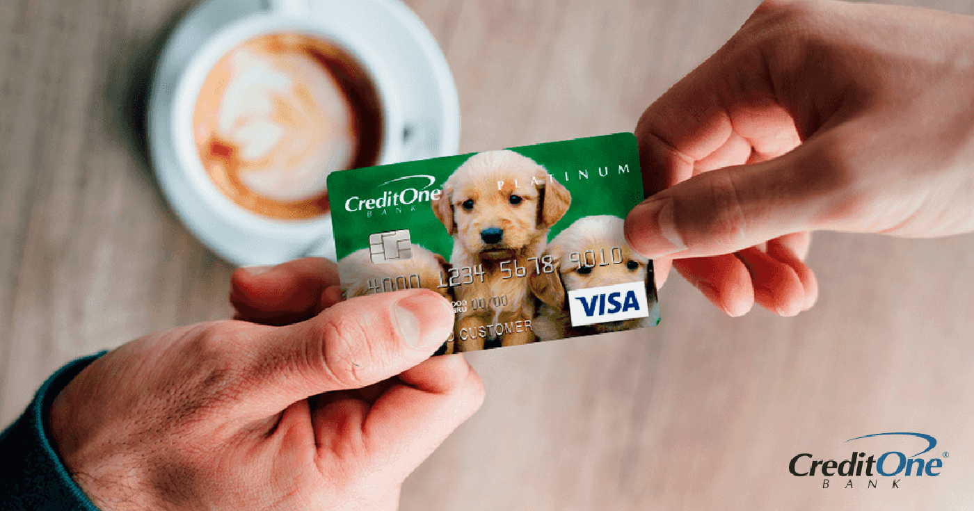 A payment transaction for a cup of coffee using a Credit One Bank credit card